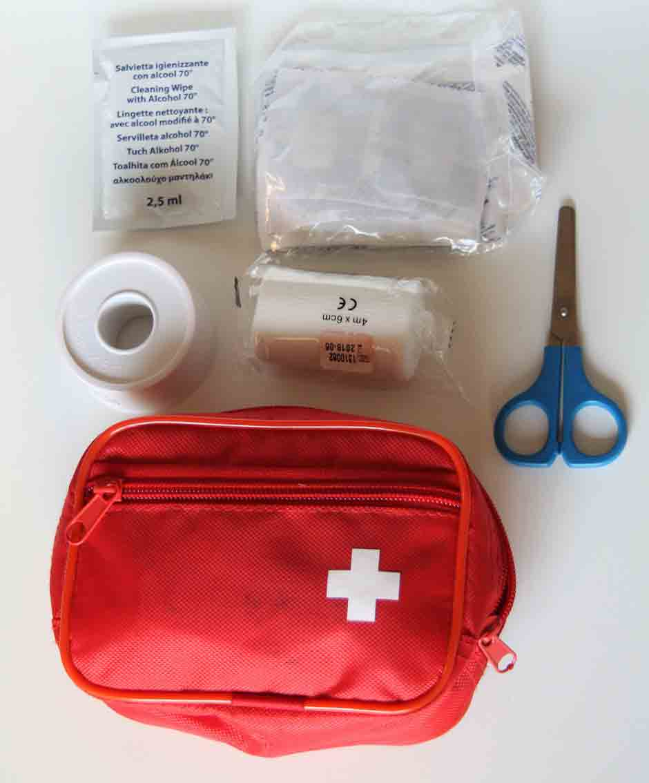 First aid kit To deal with any situations...