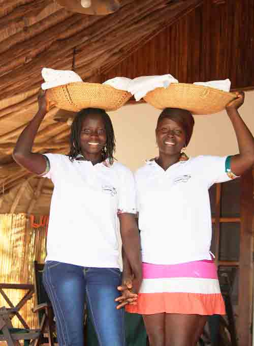 Fatou and Francesca fresh clean linens and towels meals included on the stay price