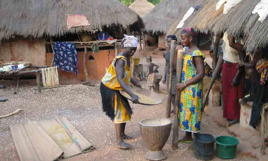 rice handwash in africa on the bijagos archipelago
