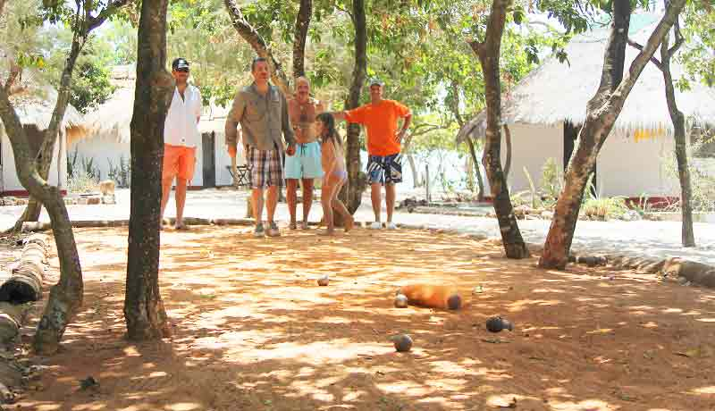 bowling field in Africa on Kere island