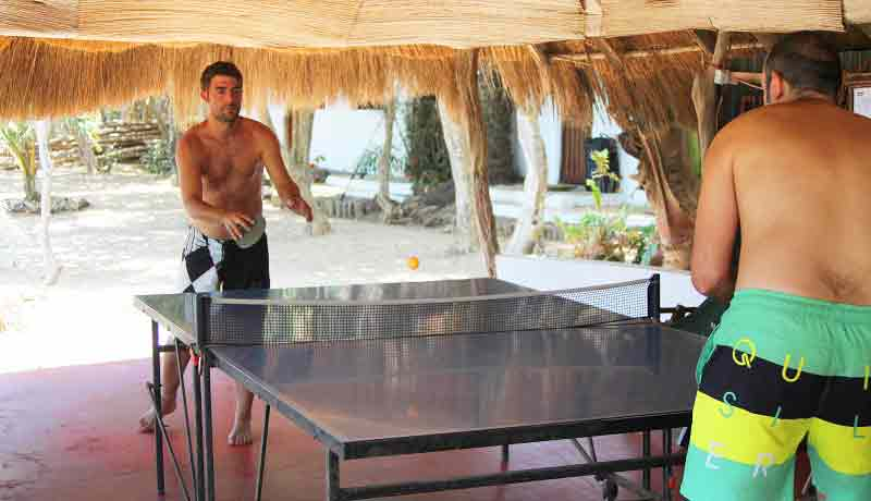 free ping pong activities children family private island africa