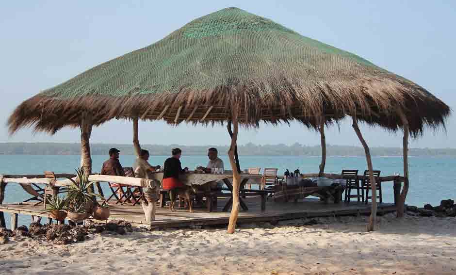 terrace on stilts Guinea bissau kere island