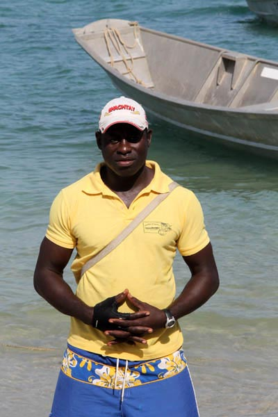 armando fishing on the bijagos en guinea bissau
