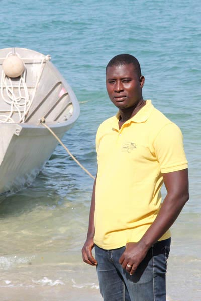 Bijagos fishing sailor in guinea bissau